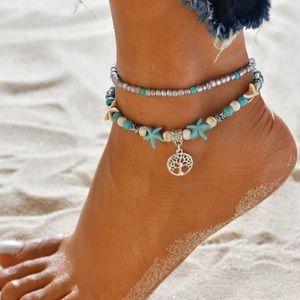 Jewelry - 💕Tree of life layered anklet